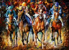 Handmade Modern Palette Knife Figures,Cars,streetscape Oil Painting on canvas,