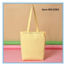 promotional recycled cotton shopping bag/plain cotton tote bag