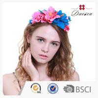Green Material Artificial Flower Plastic Patterns For Headband