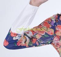 плюс размер платья новая летняя мода, Длина до пола длинный рукав тонкий женщин цветок печатных винтажное платье случайный b16 sv005217