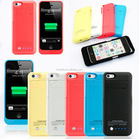 2000mah External Backup Battery Power Bank Charger Case Cover for iPhone 5 5s 5c