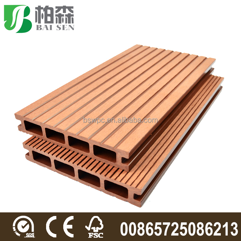 Anti slip wood plastic composite deck board wpc deck for Non slip composite decking