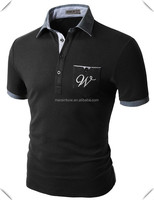 2015 embroidery pocket cheap fashion polo t shirts for men and women for company exployee with name and logo embroidery