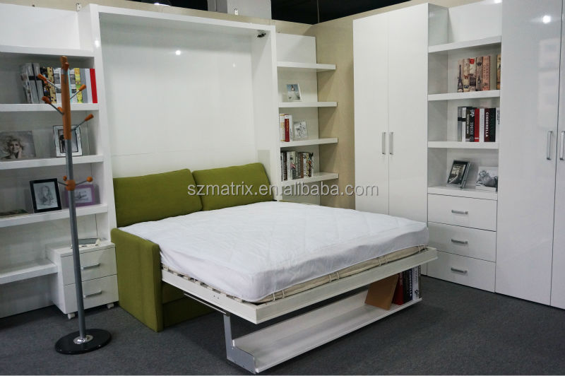 folding wall bed hidden wall bed murphy bed with sofa. Black Bedroom Furniture Sets. Home Design Ideas