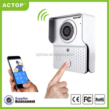 Shenzhen ACTOP Video HD alarm system wireless IOS Android phone app smartbell video doorbell
