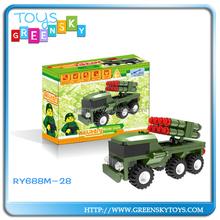 Missile car building blocks educational toys for kids
