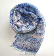 Woven New Fashion Custom Made Roll 100% Polyester Silk Feel Scarf
