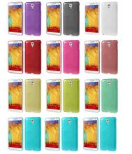 Black Brushed Slim Jelly TPU Skin for Samsung Galaxy Note 3 Lite N750 / Neo N7500 N7505