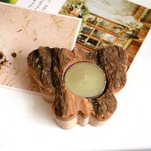 zakka creative muebles para el hogar de la corteza de madera manualidades adornos de la mariposa