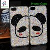 Panda diamond case PC combo case for iphone 5s, for couple use a pair of panda phone case