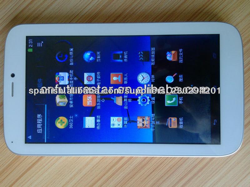 7'' Android 4.2 Dual Core pantalla capacitiva de la tableta de la tableta 3G Skype