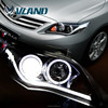 Professional led car headlight car parts and accessories auto headlights and angel eyes headlight for toyota Corolla