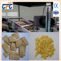 Crispy Extruded Fry Wheat Corn Flour Pellet 3D Snacks making Machine