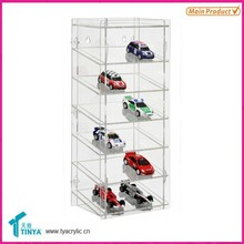 Custom Hotwheels Wall Mounted Display Shelves Hold 12 Cars Plastic Tomica Display Case Acrylic Display Stand for Car Model