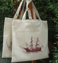 2015 fashion hot sale custom made cotton shopping bags with custom logo printed
