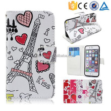 30pcs Each Color Available Romantic Style Fancy Girl Pattern Flip Wallet Phone Case for LG Isai FL/LGL24