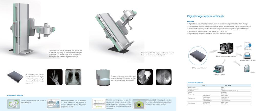 Высокочастотный мобильный рентгеновский аппарат с 1.0 мега пикселей CCD camera-CCC одобренное се