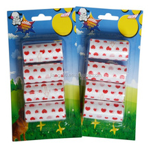 Customized heart shaped printing scented plastic pet waste bag