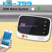 Android and IOS support wireless gsm residential home security alarm systems
