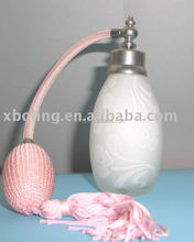 perfume pump sprayer with 24mm hand made glass bottle