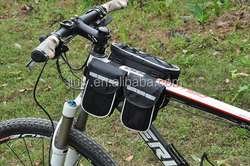 Three Pockets Bike Rack Bag durable bicycle bag waterproof bike bag