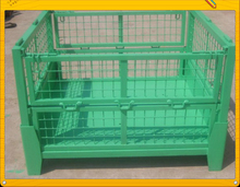 Stackable Folding Steel Wire Mesh Pallet Cage