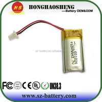 601224 High Rate 3.7V 120mAh Li-Polymer Rechargebale Battery