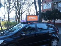 most affective taxi display sign oparated with WIFI or 3G