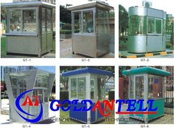 Access control car parking modular steel house & mobile sentry box & steel sentry box house for car parking system
