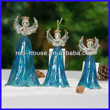 Handblown Fashionable Glass Angel Ornaments Christmas Decoration, Different Figure