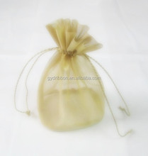 HOT SALE! Germany Quality Mini Yellow Transparent Organza Gift Bags for cake/bread/candy