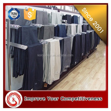Retail clothing store trousers Display racks trousers display hanger for men clothing shop