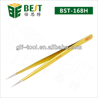 BEST-168H Stainless steel Long Tweezers for Eyelash Extension