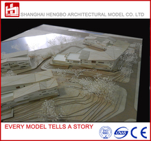 Wood Scale Architectural Model for Real Estate