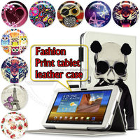 Tablet Case For Samsung Galaxy Tab P7300 High Quality Print Wallet Flip PU Leather Case Cover