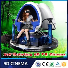9D VR Interactive Cabin With Dynamic Effects 3 Dof 3 Seats Amusement Park 5D 7D 9D Cinema From Lechuang