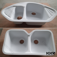 utility resin stone kitchen sink in white color