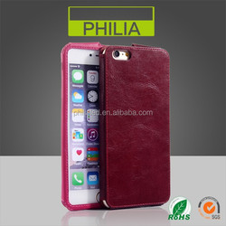 high quality anti scratch genuine leather raw material mobile phone cover