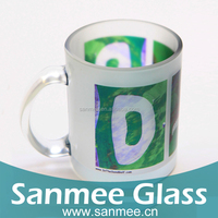 Wholesale Color Printing Glass Coffee Mug