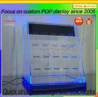 custom led acrylic lighted display case for hot toy