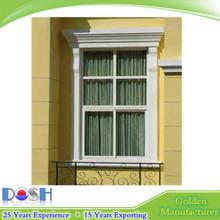 Dosh UPVC/PVC windows UPVC sliding window with grill design for household