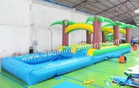 pvc tarpaulin slide with pool commercial inflatable water park inflatable water slideZ3029