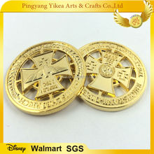 Die cut European eagle gold coin