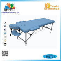 latest design aluminium portable massage table high quality