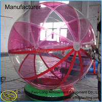 Colorful roll inside large inflatable ball for sale