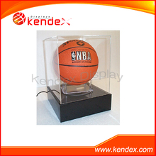plexiglass cube box display showcase for basketball