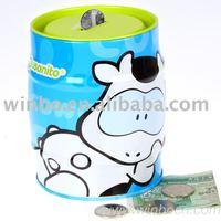Beer barrel kids tin money box