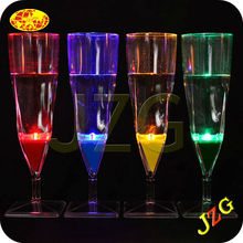 Wholesale plastic flashing light up led glasses party decorations glow champagne glass/led champagne glass