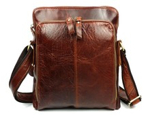 Vintage Fashion Casual 100% Top Genuine Leather Cowhide Men Messenger Bag Shoulder Cross Body Bag Bags For Men