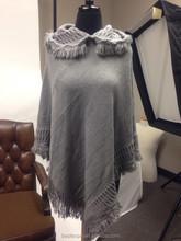 fashion pashmina fall winter women poncho with hood